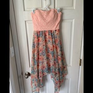 Women's Strapless Floral Dress